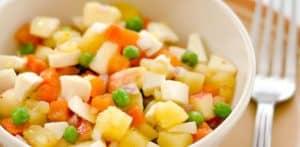 Receta de ensalada patata estilo rusa