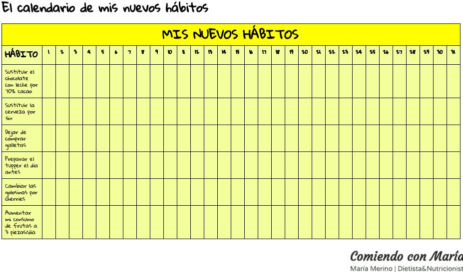 calendario buenos habitos